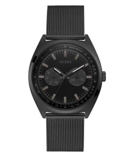 Black Case Black Stainless Steel/Mesh Watch, , large