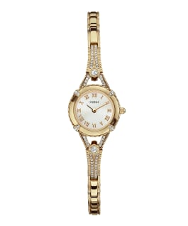 Gold Tone Case Gold Tone Brass Watch  large