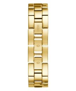 Gold Tone Case Black Resin Watch  large