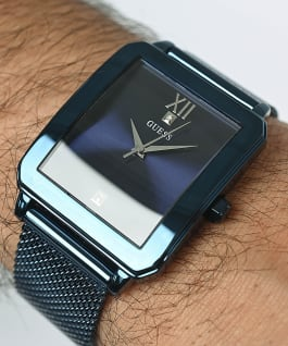 Blue Case Blue Stainless Steel/Mesh Watch, , large