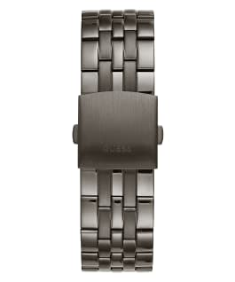 Gold Tone Case Gunmetal Stainless Steel Watch  large
