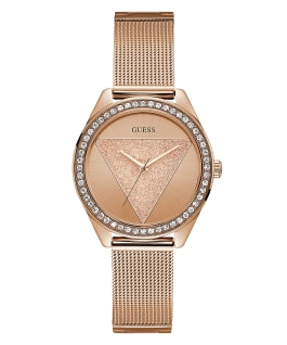 Rose Gold Tone Case Rose Gold Tone Stainless Steel/Mesh Watch, , large