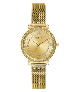 Gold Tone Case Gold Tone Mesh Watch  large