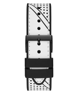 Black Case White Silicone Watch  large