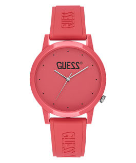 Pink Case Pink Silicone Watch  large