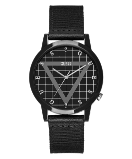 Black Case Black Nylon Watch  large