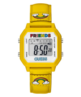 GUESSxFriendsWithYou 39mm YELLOW LEATHER STRAP WATCH, , large